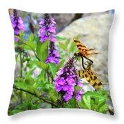 Dragonflies In Summer Throw Pillow
