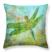 Dragonfly Throw Pillow