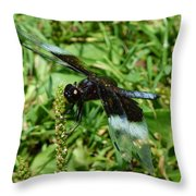 Dragonfly Close Up Throw Pillow