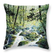 Dragonfly Creek Throw Pillow