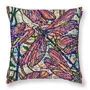 Dragonfly Deco Throw Pillow