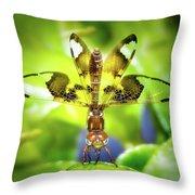 Dragonfly Design Throw Pillow