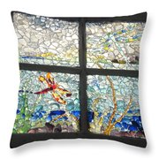 Dragonfly Dreams Throw Pillow