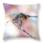 Dragonfly In Balance Throw Pillow