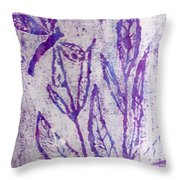 Dragonfly In Lavender Throw Pillow