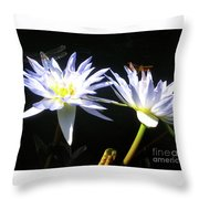 Dragonfly Lily Throw Pillow