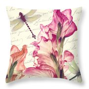 Dragonfly Morning II Throw Pillow