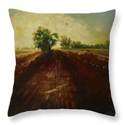 Dragonfly On Maggie's Farm Throw Pillow