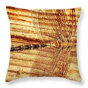 Dragonfly Sepia Throw Pillow