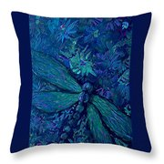 Dragonfly Series C  Throw Pillow