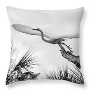 Dragonfly Wing Man Bw Throw Pillow