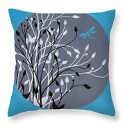Dragonfly's Delight Throw Pillow