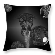 Dragons And Tigers Throw Pillow