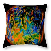 Dragons And Wizards Throw Pillow
