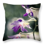 Dragons In The Orchids Throw Pillow
