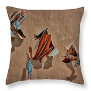 Dragons In The Railyard - Santa Fe #2 Throw Pillow