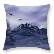 Dragons In Their Element. Throw Pillow by Cynthia Adams