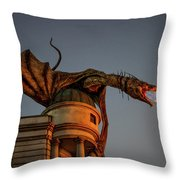 Dragon's Revenge Throw Pillow