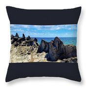 Dragons Teeth Throw Pillow