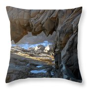 Dragons Teeth Salt Point California Throw Pillow