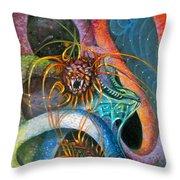 Dragons Three Throw Pillow