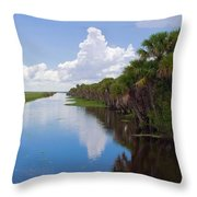 Drainage Canals Make Farming Possible In Florida Throw Pillow