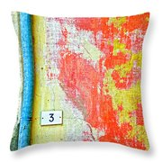 Drainpipe Amazing Wall And Number Three Throw Pillow
