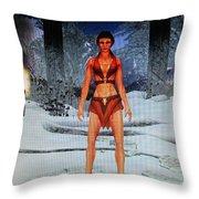 Drakkin Lady Throw Pillow