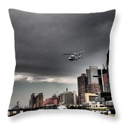 Drama In The City 3 Throw Pillow