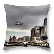 Drama In The City 8 Throw Pillow