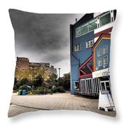 Drama In The City 9 Throw Pillow