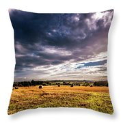 Drama In The Skies Throw Pillow