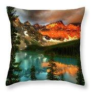 Drama Of The Canadian Rockies Throw Pillow