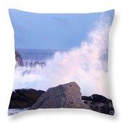 Drama Of The Rocky Shore Throw Pillow