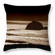 Drama On Big Sur Throw Pillow