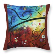 Drama Unleashed 2 Throw Pillow by Megan Duncanson