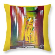 Drama Woman Throw Pillow