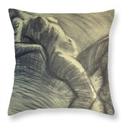 Dramatic 5 - Female Nude  Throw Pillow