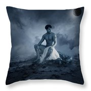 Dramatic Blue  Throw Pillow
