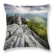 Dramatic Blue Ridge Mountain Scenic Throw Pillow