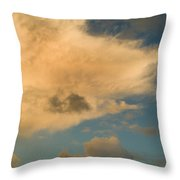 Dramatic Clouds In The Sky Resting Throw Pillow