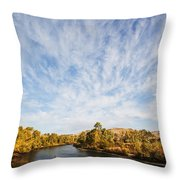 Dramatic Clouds Over Boise River In Boise Idaho Throw Pillow