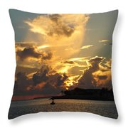 Dramatic Clouds Throw Pillow