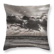 Dramatic Dutch Coast Throw Pillow