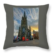 Dramatic Edinburgh Sunset At The Hub In Scotland  Throw Pillow