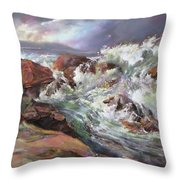 Dramatic Entrance Throw Pillow