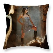 Dramatic Fashion Pose Throw Pillow