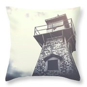 Dramatic Lighthouse Throw Pillow
