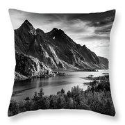 Dramatic Lofoten Throw Pillow
