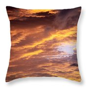 Dramatic Orange Sunset Throw Pillow